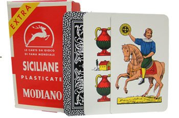 Modiano Siciliane N96 Italian Regional Playing Cards - 1 (Siciliano Series)