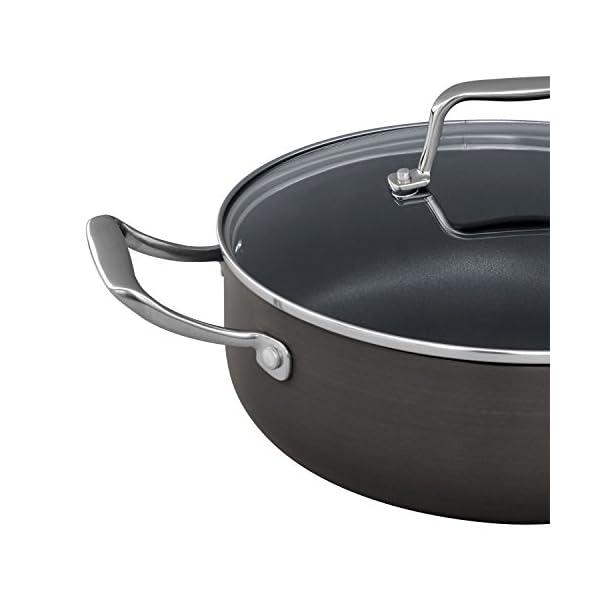 Amazon Brand – Stone & Beam Kitchen Cookware Set, 12-Piece, Pots and Pans, Hard-Anodized Non-Stick Aluminum 4