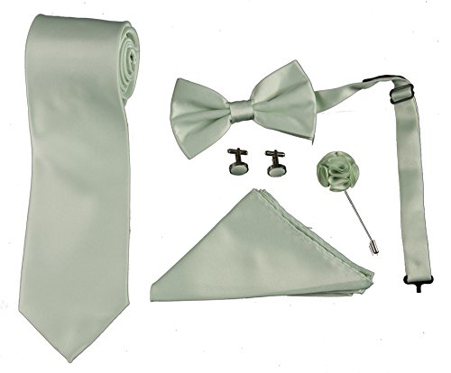- Mens Formal Boxed Tie Sets Includes Cufflinks, Lapel Pin, and Hanky (Mint)