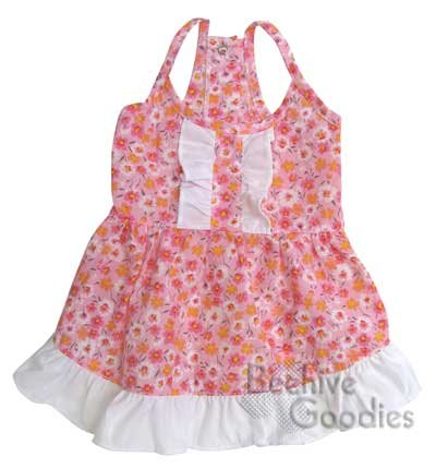Adorable Flower Picnic Dress with Ruffled Back for Small Dogs – S, My Pet Supplies