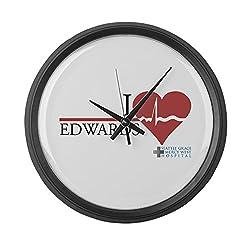CafePress - I Heart Edwards - Grey's Anatomy - Large 17 Round Wall Clock, Unique Decorative Clock