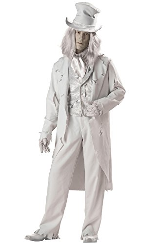 InCharacter Costumes Men's Ghostly Gent Costume, Gray, Large -