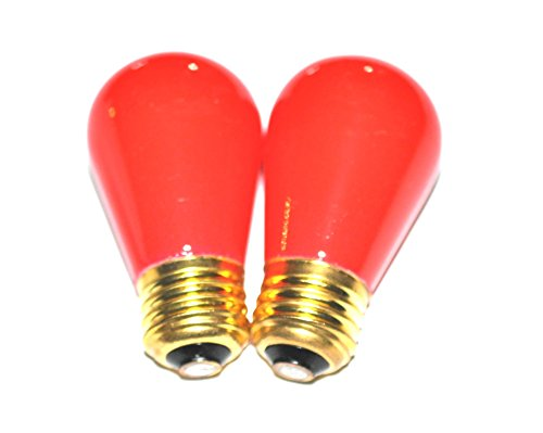 Darkroom RED Safelight Bulbs for Photographic Darkrooms and Medical Darkrooms - SET of 2!