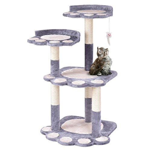 Pet Furniture Multi-level Climb Scratching Posts Paw Gray ()