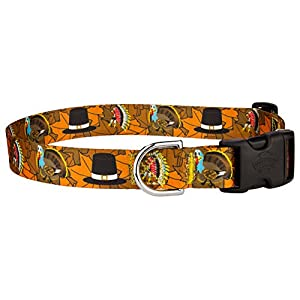 Country Brook Petz Thanksgiving Tradition Featherweight Deluxe Dog Collar - Large