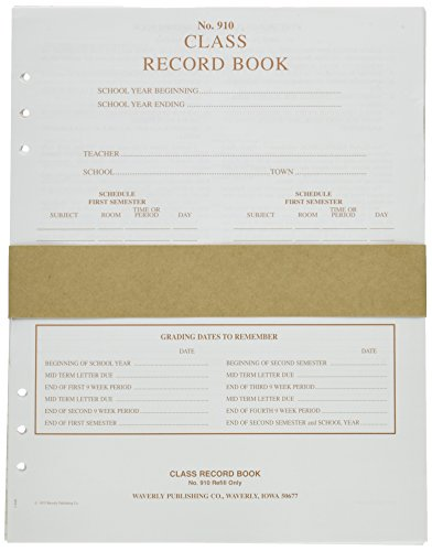 waverly-wp-910-loose-leaf-design-class-record-book-refill-6-subject-8-1-2-x-11-size-white-tan