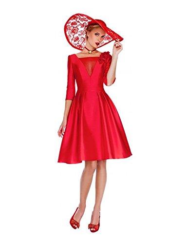 Rosso Para Dressvip Mujer Trapecio Vestido wqaOXa
