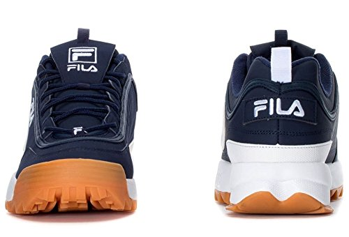 Fila Uomo white Leather Navy Ii gum Disruptor Formatori aF6xva