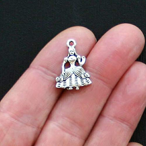 Southern Belle Costumes China - 8 Southern Belle Charms Antique Silver