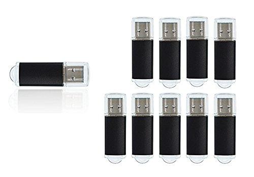 FEBNISCTE Bulk 10 Pack 16GB High Speed USB 3.0 Flash Drive Thumb Stick, Black