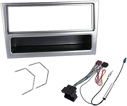 Sound-way Kit Montage Autoradio, Marco 1 DIN Radio de Coche, Adaptador Antena, Cable Adaptador Conector ISO, Llaves Desmontaje Compatible con Opel