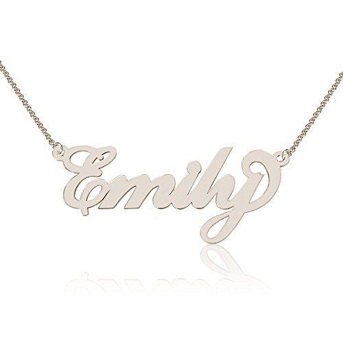 Personalized Emily Name Necklace, Custom made in stock, Sterling Silver (Sterling Name Silver Pendant Personalized)