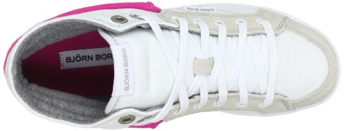 Björn Borg Footwear LLOYD FLD CVS 1311 091515 Damen Sneaker Weiß (WHITE-FUCHSIA 1956)