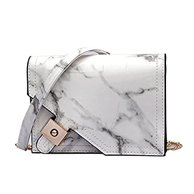 fde879f526 SODIAL Marble Pattern Crossbody Bags for Women Messenger Bags Girls Small  Flap Chain Shoulder Bag White  Amazon.co.uk  Shoes   Bags