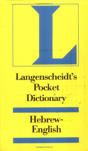 Langenscheidt's Pocket Hebrew Dictionary (English and Hebrew Edition)