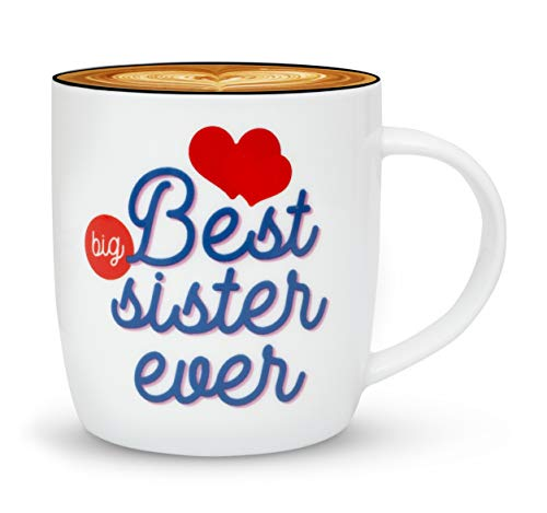 Gifffted Best Big Sister Ever Coffee Mug, Funny Sisters Day Gifts From Sister or Brother, Birthday Gift Ideas For My Worlds Greatest Older Adult Sister, Christmas Present Mugs, Valentines, Cup (Sister Older For Ideas Gift Christmas)