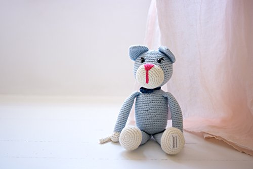 Oliver the cat handmade organic crochet stuffed animal