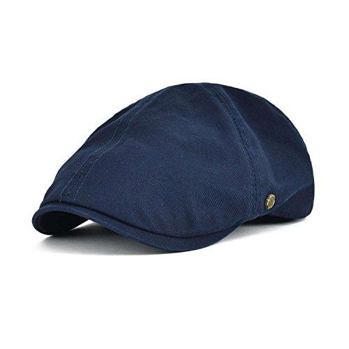 - VOBOOM Cotton Flat Cap Cabbie Hat Gatsby Ivy Cap Irish Hunting Hat Newsboy (Navy)