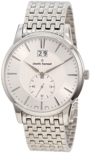 Claude Bernard Men's 64005 3M AIN Classic Gents Silver Dial Stainless Steel Date Watch