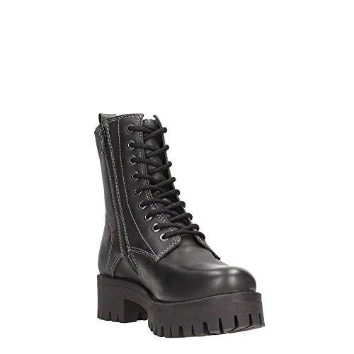 Wrangler Punk Hi WL152542 Black - Botas de Piel para mujer Negro negro negro
