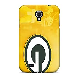High Quality Phone Covers For Galaxy S4 With Custom Vivid Green Bay Packers Pattern DustinFrench
