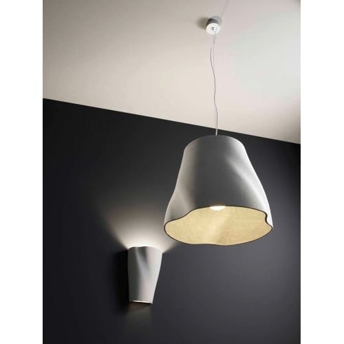 Molto Luce 588-300USA Soft Single Light 12-5/8'' High Wall Sconce, Grey