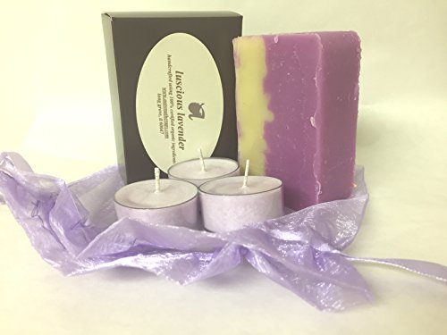 ORGANIC SOAP & CANDLE GIFT SET (Lavender)