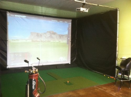 Personal Pro TGC Ultimate Golf Simulator System 1 1/4 frame with 70K Courses