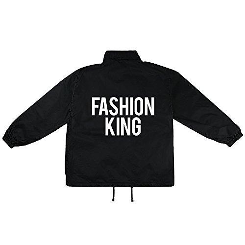 Fashion King Motiv auf Windbreaker, Jacke, Regenjacke, Übergangsjacke, stylisches Modeaccessoire für HERREN, viele Sprüche und Designs