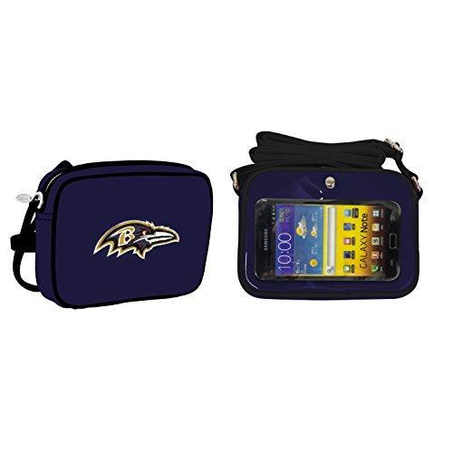 (NFL Baltimore Ravens Fashion Style Crossbody Purse- Embroidered Logo)