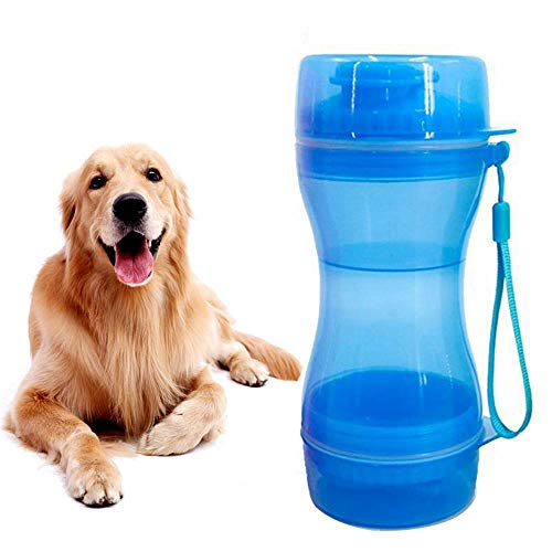 Dog Food Container, Double Layer Dog Travel Water Bottle Dispenser & Dog Food Storage, Leak Proof & Portable, 610 Ml/20 Oz Capacity - Food Grade Silicone | BAP Free For ()