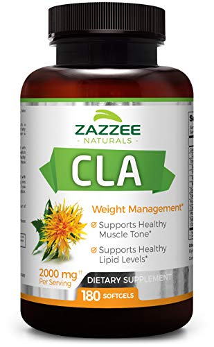 CLA | 2000 mg | 180 Softgels | High-Potency Conjugated Linoleic Acid | High Dosage for Weight Management