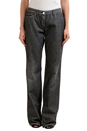 Gianfranco Ferre Gray Women's Straight Leg Casual Pants US 8 IT 30
