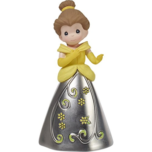 Precious Moments 172421 Princess Belle Decorative Bell Resin & Zinc Alloy Figurine Disney Showcase Beauty & The Beast, Multi