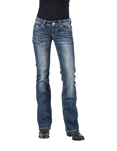 Stetson Western Jeans Womens Bootcut Slim Denim 11-054-0818-0391 BU