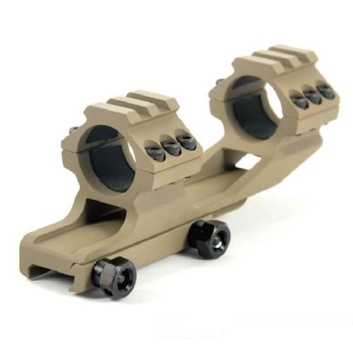 Best Price! Green Blob Outdoors (DARK EARTH) Tactical 1 Inch Cantilever Flat Top Dual Ring Scope Mou...