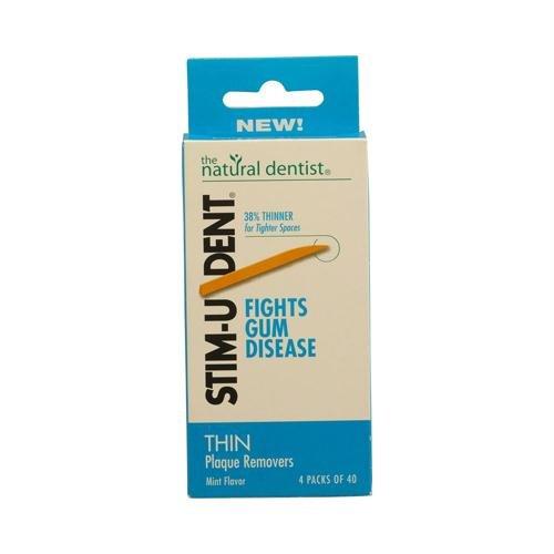 STIM-U-DENT Thin Plaque Removers Mint - 160 Toothpicks Natural Dentist