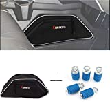 KEMIMOTO UTV Center Seats Console Storage Bag & Lock n RideTie Down Type Anchors for Polaris General 4 1000 2016 2017 2018