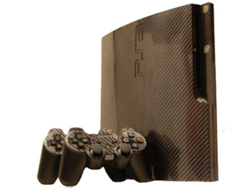 Sony PlayStation 3 Slim Skin (PS3 Slim) – NEW – CARBON FIBER system skins faceplate decal mod Review