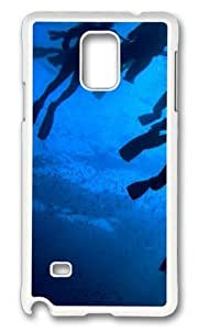 MOKSHOP Adorable Divers Paradise Hard Case Protective Shell Cell Phone Cover For Samsung Galaxy Note 4 - PC White