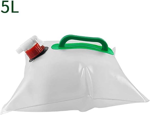 5L / 10L Camping Agua De Almacenaje, Plástico Plegable Bolsa De Agua, con Tap, Caja Fuerte, No Tóxico Y De Gran Capacidad - Juego De 2 (Size : 5L): Amazon.es: Hogar
