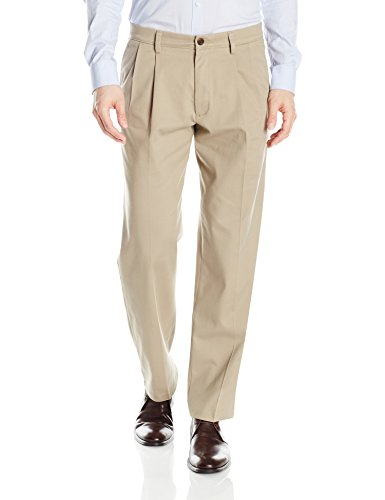 - Dockers Men's Classic Fit Easy Khaki Pants - Pleated D3, Timber Wolf (Stretch), 34 29