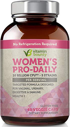 Vitamin Bounty Probiotic & Prebiotic for Women - 10 Billion CFUs Per Serving with Cranberry, 5 Strains