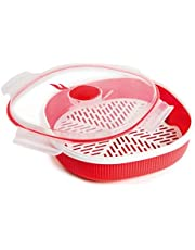 Snips 001700 Microwave Soup Mugs, 2-Piece, Red