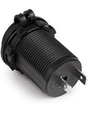 Easyeeasy Waterdichte Auto Motorrijwiel Sigarettenaansteker Voeding Socket Plug Outlet Power Adapter Fit Voor 12-24 V.