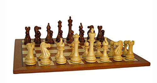 Worldwise Imports Jumbo Staunton Chess Set en Sapele Board