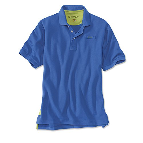 Men's The Orvis Signature Polo / Tall, Royal Blue, X Large