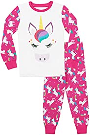 Harry Bear Girls' Rainbow Glitter Unicorn Paj