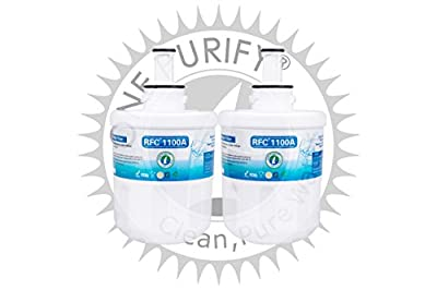 OnePurify RFC1100A2PK Samsung Aqua-Pure Plus DA29-00003G Compatible Refrigerator Water Filter (2 Pack)