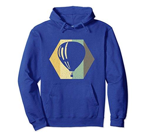 Unisex Retro Hot Air Balloon - Adventure Hoodie Large Royal Blue ()